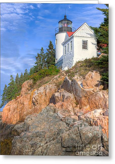 Bass Head Light Greeting Cards - Bass Harbor Head Light I Greeting Card by Clarence Holmes