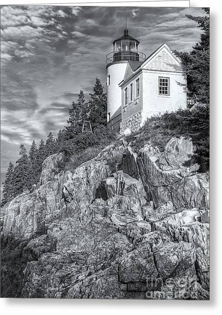 Bass Head Light Greeting Cards - Bass Harbor Head Light II Greeting Card by Clarence Holmes