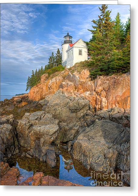 Bass Head Light Greeting Cards - Bass Harbor Head Light III Greeting Card by Clarence Holmes