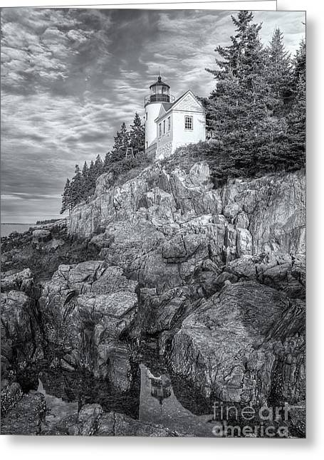 Bass Head Light Greeting Cards - Bass Harbor Head Light IV Greeting Card by Clarence Holmes