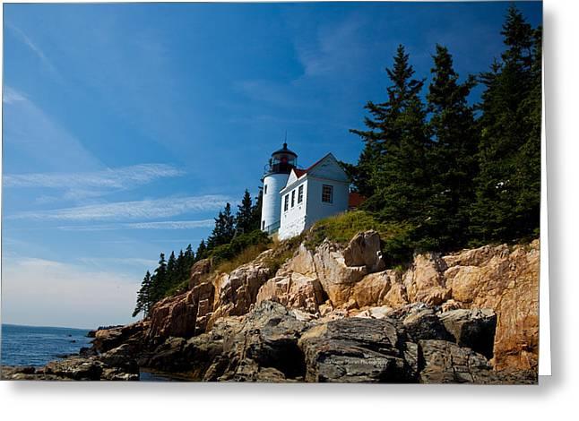Bass Head Lighthouse Greeting Cards - Bass Harbor Head Light Greeting Card by Wayne Moran