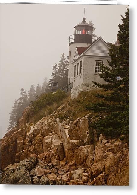 Bass Head Lighthouse Greeting Cards - Bass Harbor Head Lighthouse Greeting Card by Karma Boyer