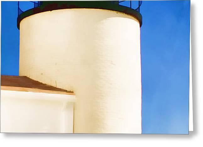 Bass Harbor Head Lighthouse Maine Greeting Card by Carol Leigh