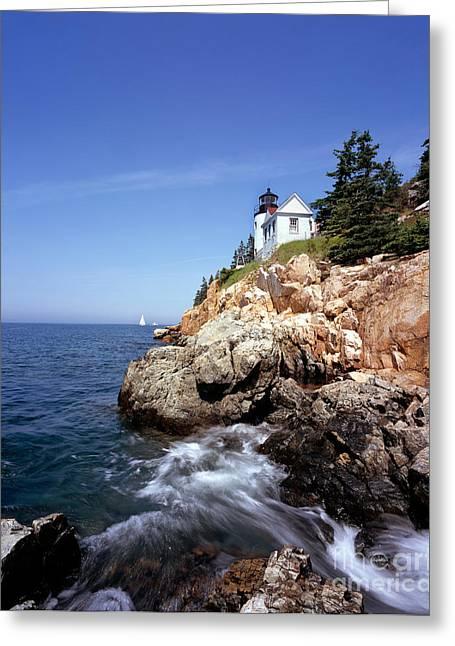 Bass Head Lighthouse Greeting Cards - Bass Harbor Head Lighthouse, Maine Greeting Card by Rafael Macia