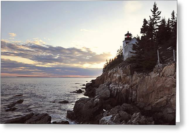 Bass Harbor Head Lighthouse Maine Greeting Card by Terry DeLuco