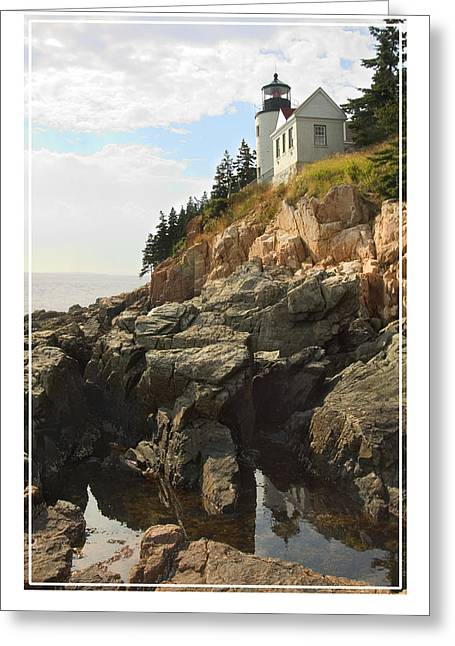 Fish Digital Greeting Cards - Bass Harbor Head Lighthouse Greeting Card by Mike McGlothlen