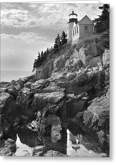 Maine Lighthouses Digital Greeting Cards - Bass Harbor Light Greeting Card by Mike McGlothlen