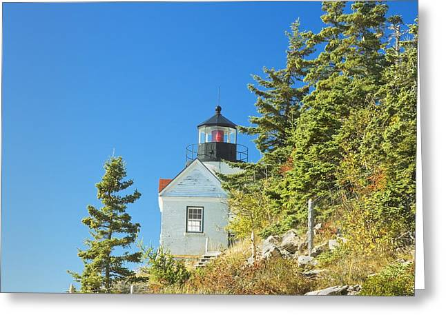New England Lighthouse Greeting Cards - Bass Harbor Lighthouse Mount Desert Island Maine Greeting Card by Keith Webber Jr