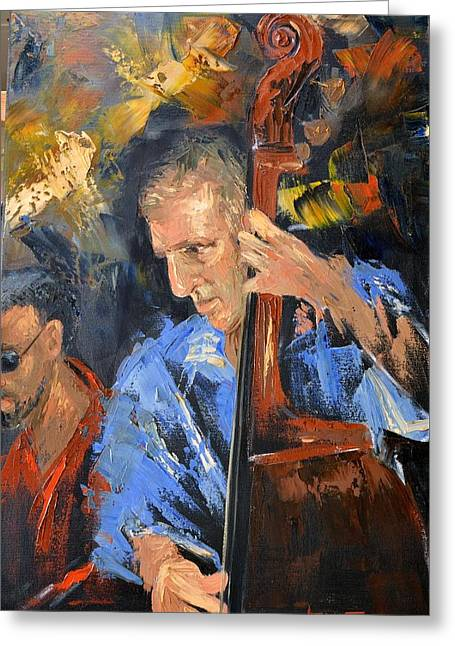 Impressionist Framed Prints Greeting Cards - Bass man Greeting Card by Anthony Falbo