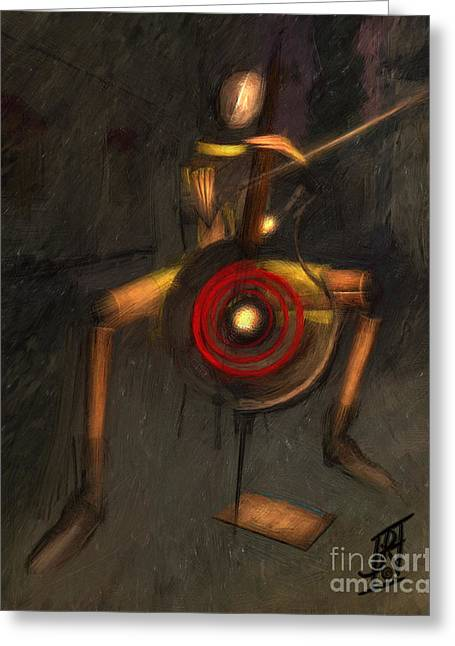 Rosyhall Greeting Cards - Bass Man Greeting Card by Rosy Hall