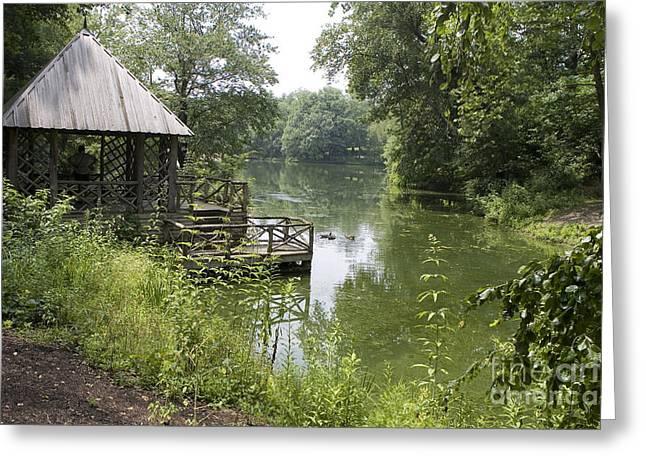 Watson Lake Greeting Cards - Bass Pond Biltmore Estate Greeting Card by Jason O Watson