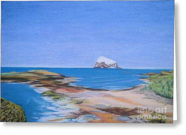 Fauna Pastels Greeting Cards - Bass Rock North Berwick Greeting Card by Yvonne Johnstone