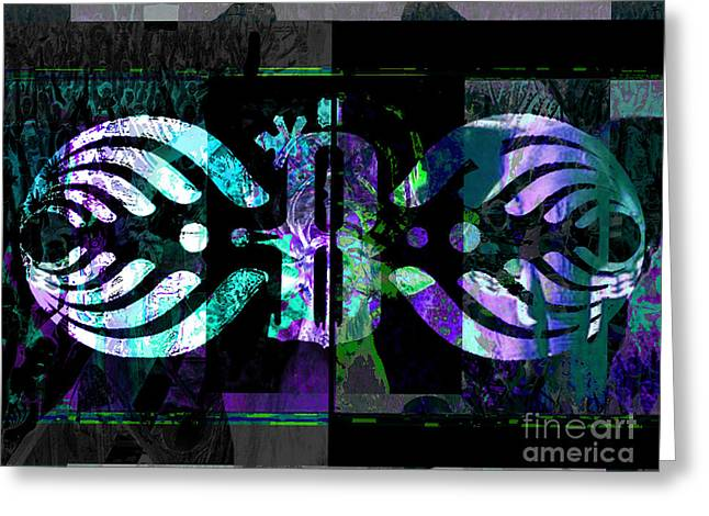 Dubstep Greeting Cards - Bassnectar  Greeting Card by Andrew Kaupe