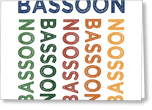 Bassoon Cute Colorful Greeting Card by Flo Karp