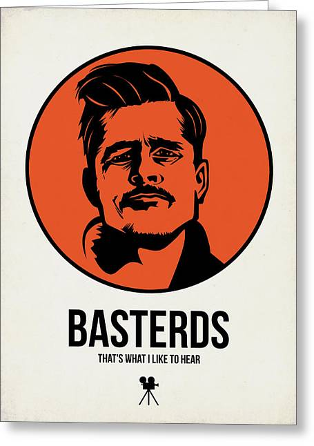 American Film Greeting Cards - Basterds Poster 1 Greeting Card by Naxart Studio