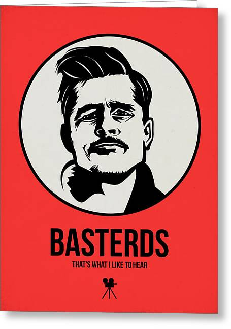 American Film Greeting Cards - Basterds Poster 2 Greeting Card by Naxart Studio