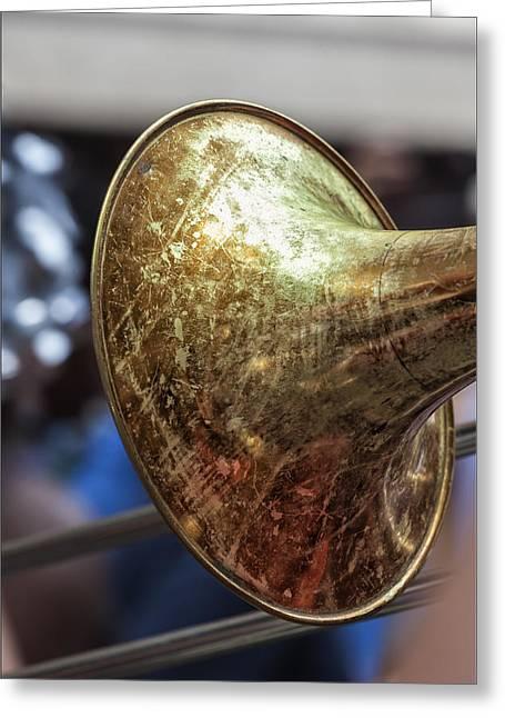 Bastille Greeting Cards - Bastille Day 7 13 14 NYC Trombone Greeting Card by Robert Ullmann