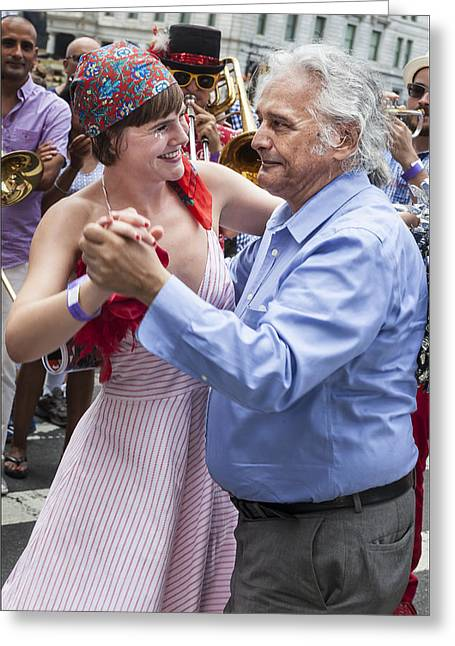 Bastille Greeting Cards - Bastille Day 7 13 14 NYC Waltzing Greeting Card by Robert Ullmann
