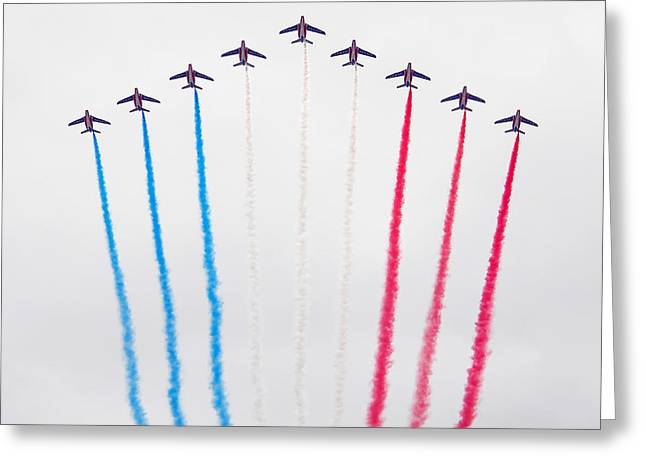 Bastille Greeting Cards - Bastille Day Air Show at the Champs-Elysees Greeting Card by Joel Thai