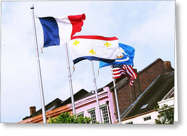 Flag Pyrography Greeting Cards - Bastille Day Greeting Card by Tom Hefko