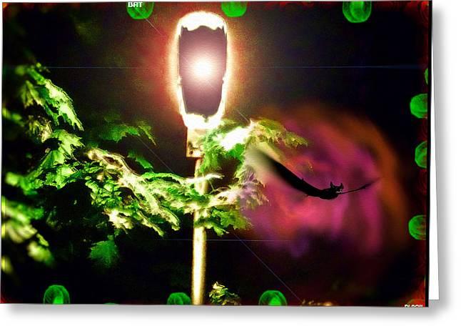 Night Lamp Greeting Cards - Bat Greeting Card by Daniel Janda