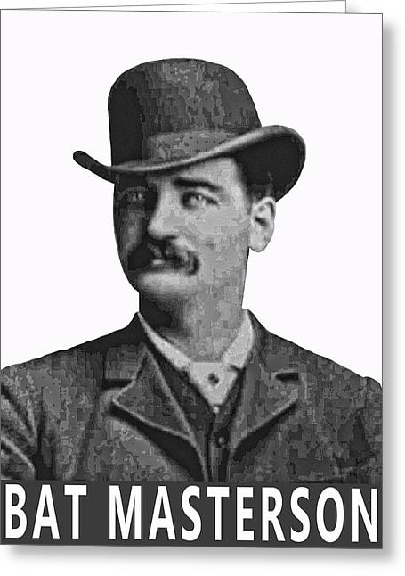 Bat Digital Greeting Cards - Bat Masterson Lawman Greeting Card by Daniel Hagerman