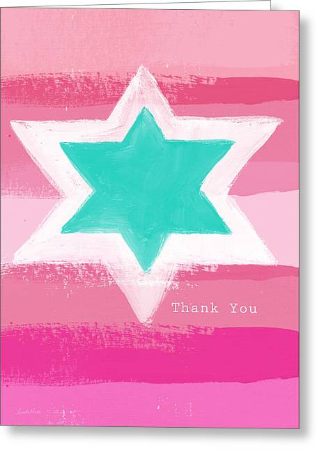 Bat Mitzvah Thank You Card Greeting Card by Linda Woods