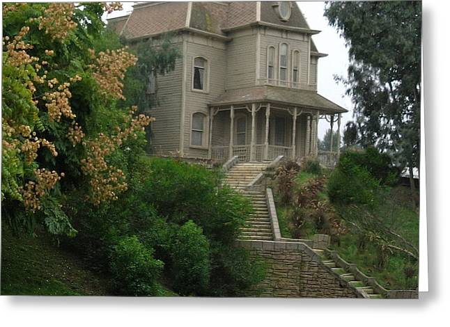 Bates Motel Greeting Cards - House of Norman Bates Greeting Card by Vivian Martin