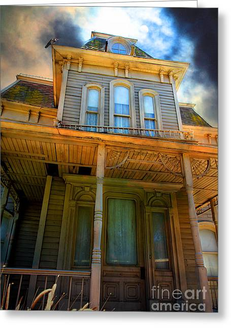 Haunted House Digital Art Greeting Cards - Bates Motel 5D28867 Greeting Card by Wingsdomain Art and Photography