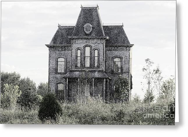 Bates Motel Greeting Cards - Bates Motel Greeting Card by Jim  Hatch
