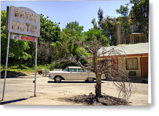 Bates Motel Greeting Cards - Bates Motel Greeting Card by Ricky Barnard