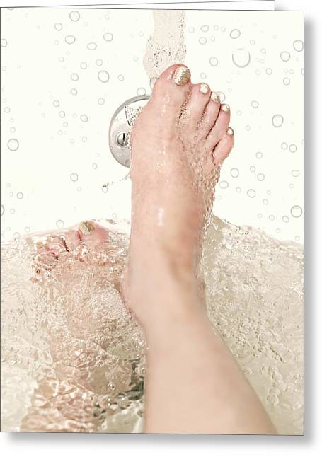 Faucet Greeting Cards - Bath Greeting Card by Diana Angstadt