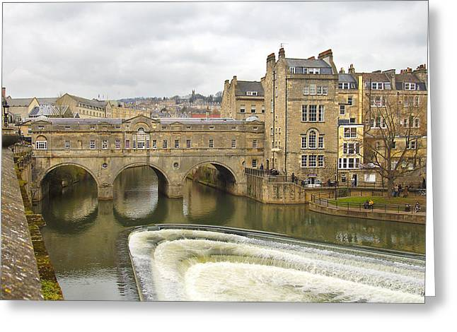 Spillways Greeting Cards - Bath England Spillway Greeting Card by Mike McGlothlen
