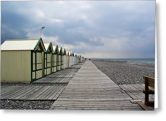 Bath House Greeting Cards - Bath Houses on the Coast of France Greeting Card by Mountain Dreams