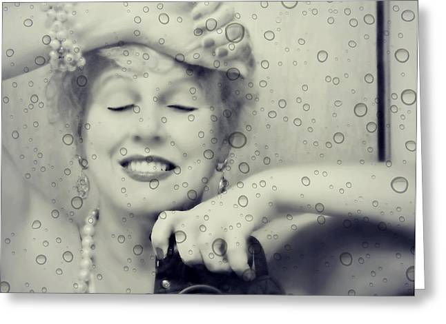 Self-portrait Photographs Greeting Cards - Bath Mirror Greeting Card by Diana Angstadt