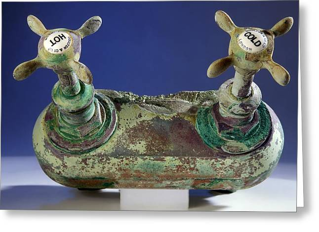 Ts Greeting Cards - Bath taps from the Titanic Greeting Card by Science Photo Library