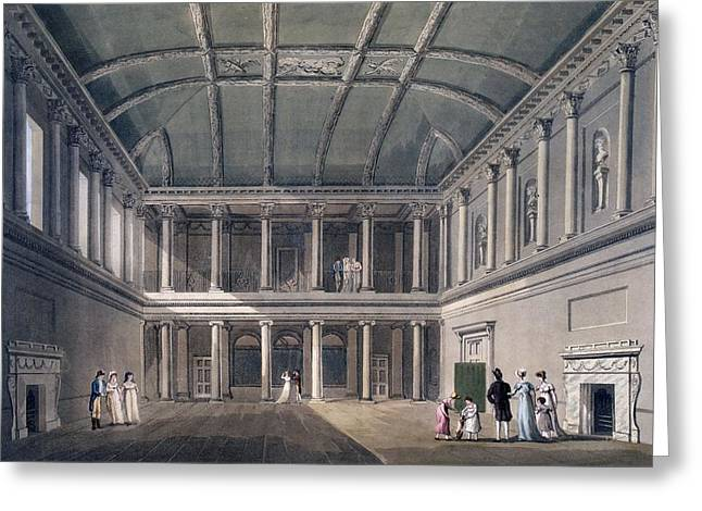 Neo Greeting Cards - Bath, The Concert Room, From Bath Greeting Card by John Claude Nattes
