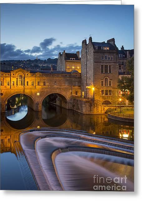 Sluice Greeting Cards - Bath Twilight Greeting Card by Brian Jannsen