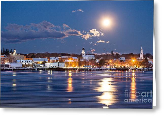 Long Street Greeting Cards - Bathed in Moonlight Greeting Card by Benjamin Williamson