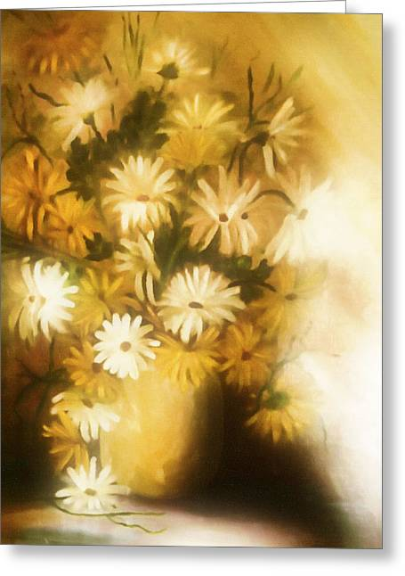 Impressionism Greeting Cards - Bathed In White Light Greeting Card by Georgiana Romanovna