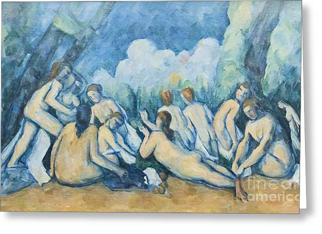 Baigneuse Greeting Cards - Bathers by Paul Cezanne Greeting Card by Roberto Morgenthaler