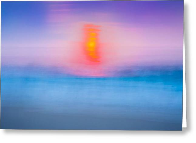 York Beach Photographs Greeting Cards - Bathing Corp Sunrise 2 Greeting Card by Ryan Moore