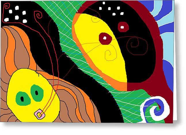 Boundary Waters Drawings Greeting Cards - Dialogos Greeting Card by Anita Dale Livaditis