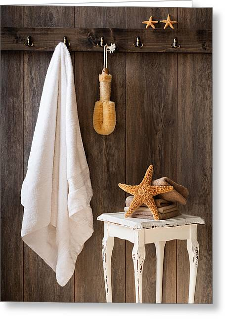 Bath Room Greeting Cards - Bathroom Greeting Card by Amanda And Christopher Elwell