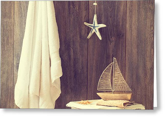 Bathroom Interior Greeting Card by Amanda And Christopher Elwell