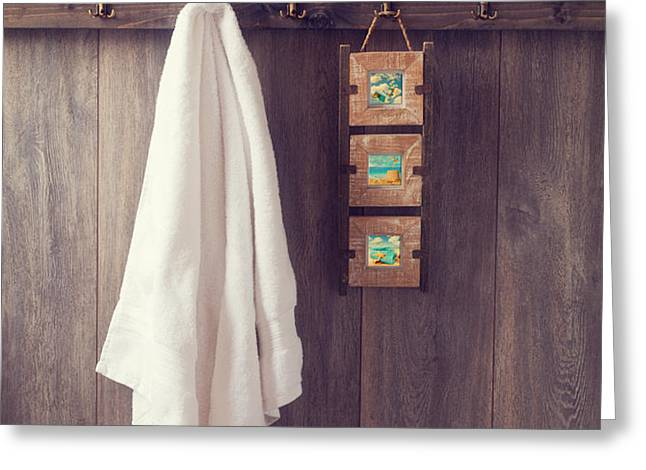 Bathroom Wall Greeting Card by Amanda And Christopher Elwell