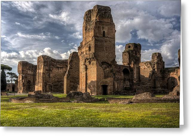 Caracalla Greeting Cards - Roman Baths of Caracalla Rome Italy Greeting Card by Bruce Ingwall