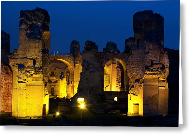 Rome Greeting Cards - Baths of Caracalla Greeting Card by Fabrizio Troiani