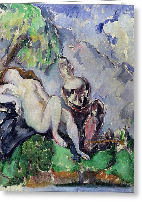 Bathsheba Greeting Card by Paul Cezanne