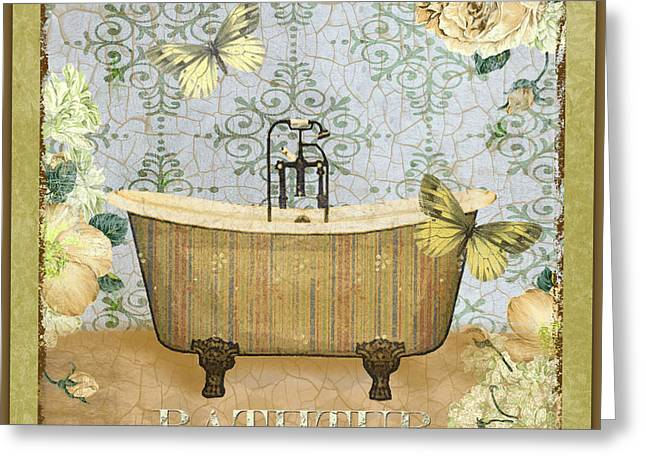 Vine Leaves Greeting Cards - Bathtub Beauty Greeting Card by Jean Plout